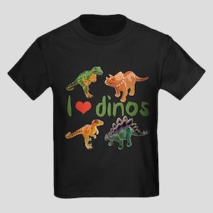 I Love Dinos Kids Dark T-Shirt