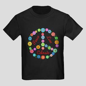 Peace Love Colorado Kids Dark T-Shirt
