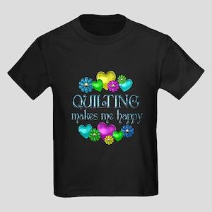 Quilting Happiness Kids Dark T-Shirt