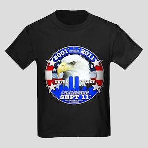 9-11 Sept 11 10th Anniversary Kids Dark T-Shirt