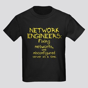 Network Engineers Kids Dark T-Shirt