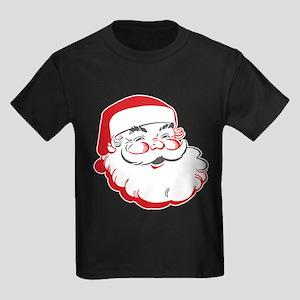 Happy Santa Face Kids Dark T-Shirt