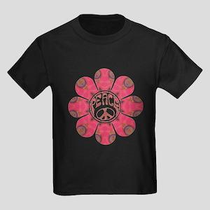 Peace Flower - Affection Kids Dark T-Shirt