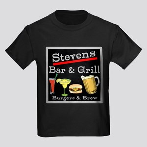 Personalized Bar and Grill Kids Dark T-Shirt