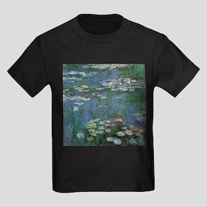 Claude Monet Water Lilies Kids Dark T-Shirt