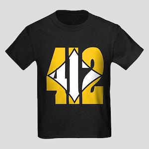 412 Gold/Whilte-D Kids Dark T-Shirt