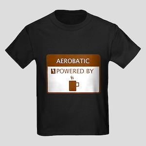 Aerobatic Powered by Coffee Kids Dark T-Shirt