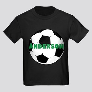 Personalized Soccer Kids Dark T-Shirt
