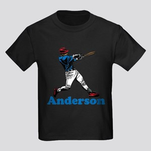 Personalized Baseball Kids Dark T-Shirt