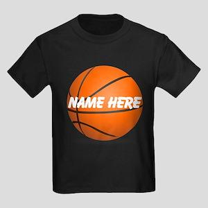 Customizable Basketball Ball Kids Dark T-Shirt