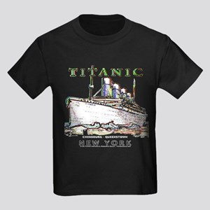 Titanic Neon (white) Kids Dark T-Shirt