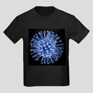 H1N1 flu virus particle, artwork - Kid's Dark T-Sh