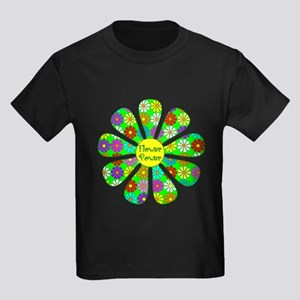 Cool Flower Power Kids Dark T-Shirt