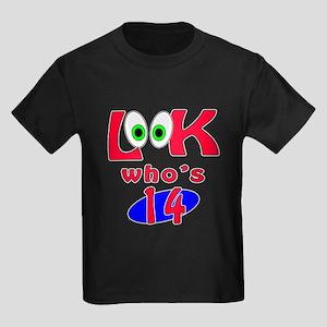 Look who's 14 ? Kids Dark T-Shirt
