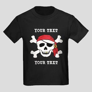PERSONALIZE Funny Pirate Kids Dark T-Shirt