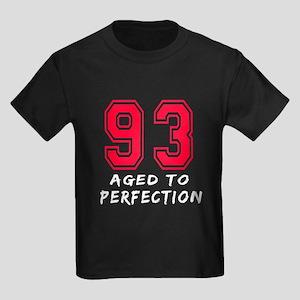 93 Year birthday designs Kids Dark T-Shirt