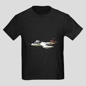 A-37 Dragonfly Aircraft Kids Dark T-Shirt