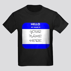 Custom Blue Name Tag T-Shirt