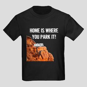 Home Is Where You Park It - Trav Kids Dark T-Shirt