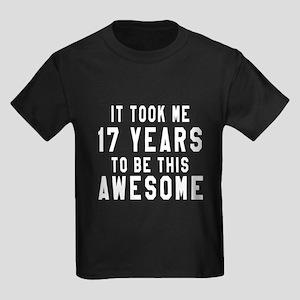 17 Years Birthday Designs Kids Dark T-Shirt