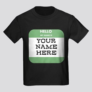 Custom Green Name Tag T-Shirt