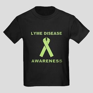 LYME DISEASE AWARENESS Kids Dark T-Shirt