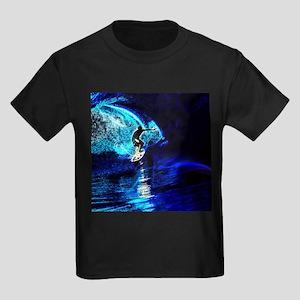 beach blue waves surfer T-Shirt
