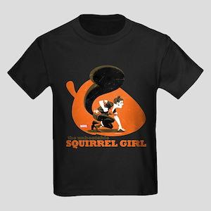 Squirrel Girl Orange Kids Dark T-Shirt