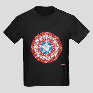 Captain America Shield Bling Kids Dark T-Shirt