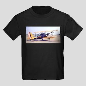 Bi-Plane 3 Kids Dark T-Shirt
