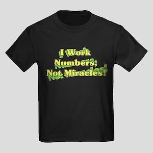 Numbers, Not Miracles Kids Dark T-Shirt