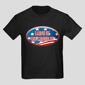 LOVE IT OR LEAVE IT! AMERICAN FL Kids Dark T-Shirt