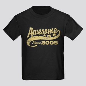 Awesome Since 2005 Kids Dark T-Shirt