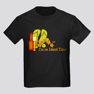 I'm On Island Time Kids Dark T-Shirt