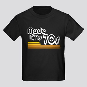 'Made in the 70s' Kids Dark T-Shirt