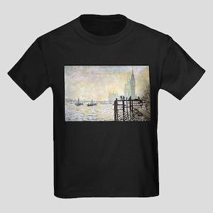 Claude Monet Westminster Bridge Kids Dark T-Shirt