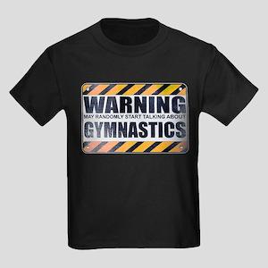Warning: Gymnastics Kids Dark T-Shirt