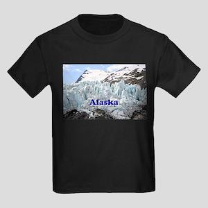 Alaska: Portage Glacier, USA Kids Dark T-Shirt