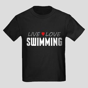 Live Love Swimming Kids Dark T-Shirt