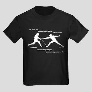 Hit First Kids Dark T-Shirt