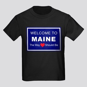 Maine Love Kids Dark T-Shirt