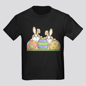 Easter Bunny Inside Easter Egg Kids Dark T-Shirt