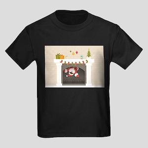 black santa stuck in fireplace T-Shirt