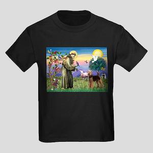 Saint Francis & Airedale Kids Dark T-Shirt