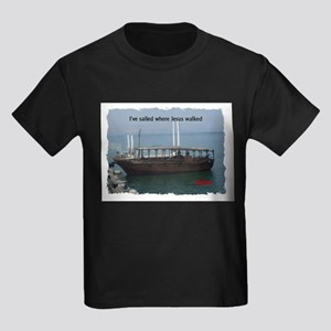 I've Sailed Where Jesus Walked Kids Dark T-Shirt
