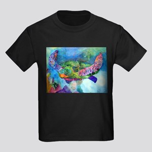 Sea Turtle Kids Dark T-Shirt