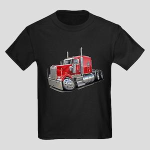 Kenworth W900 Red Truck Kids Dark T-Shirt