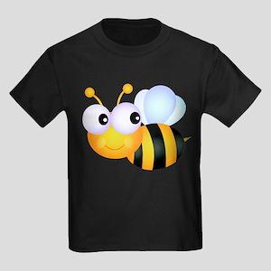 Cute Cartoon Bumble Bee Kids Dark T-Shirt