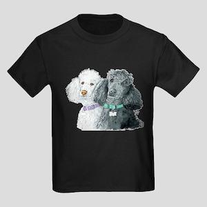 Two Poodles Kids Dark T-Shirt