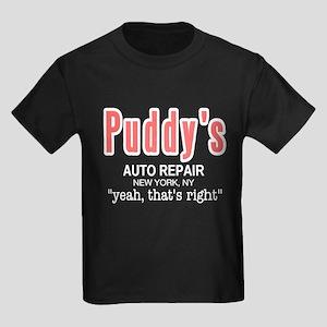 Puddy's Auto Repair Seinfield Kids Dark T-Shirt